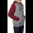 Grey / Red cipzáros pulóver