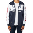 FOX Honda Zip - Navy / White cipzáras kapucnis pulóver