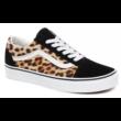 VANS Old Skool (Leopard) - Black / True white cipő