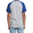 DC Star Raglan  #  Grey heather / Nautical blue póló