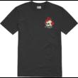 ETNIES Rose Roll- Black póló elején kicsi, hátán nagy nyomott mintával