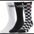 VANS Classic Crew #  Black / Checkerboard sport zokni