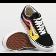 VANS Old Skool (Flame) -Black / Black / True white cipő