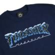 THRASHER Black Ice -  Navy póló