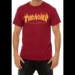 THRASHER Flame - Cardinal red póló