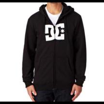 09449ef746 fekete cipzáros, kapucnis pulóver, fehér DC logóval