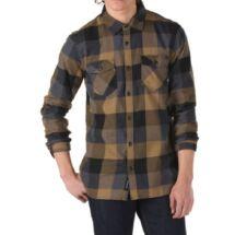 VANS Box hosszú ujjú barna-fekete kockás flanel ing