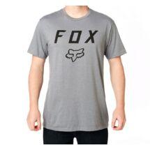 3124908e16 szürke FOX Legacy Moth póló fekete nagy fox logóval