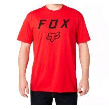6ec357a19d piros FOX Legacy Moth póló nagy fekete fox logóval