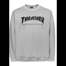 caf8b8232d Thrasher világos szürke környakas pulóver fekete thrasher felirattal