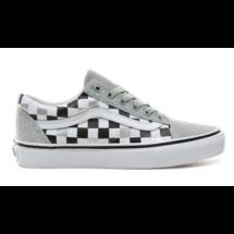 VANS Old Skool (Glitter Checkerboard)  #  Silver  / True white