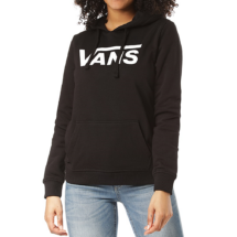 VANS Flaying V Classic kapucnis női fekete pulóver fehér vans felirattal 237db3e10f