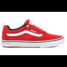 piros hasított bőr VANS Kyle Walker Pro gördeszkás cipő, fehér vans csíkkal az oldalán