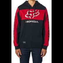 FOX Honda Zip - Black / Red cipzáras pulóver