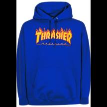 THRASHER  Flame Po - Royal kapucnis pulóver