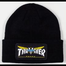THRASHER Venture Collab Patch - Black kötött sapka
