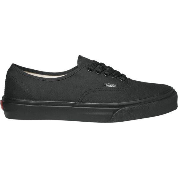 fekete vászon tornacipő,fekete gumi talppal,oldalt kis Vans cimkável