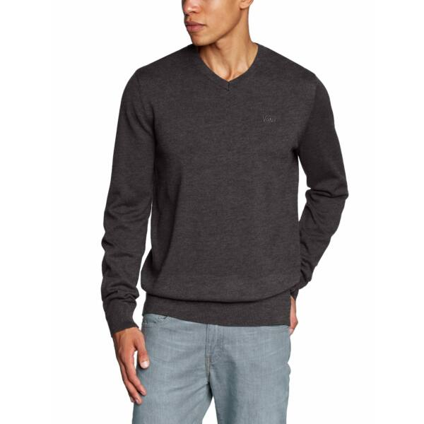 VANS Whitmore  #   Black heather, sötétszürke vékony kötött pulóver