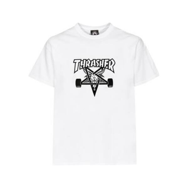 fehér thrasher skate goat póló