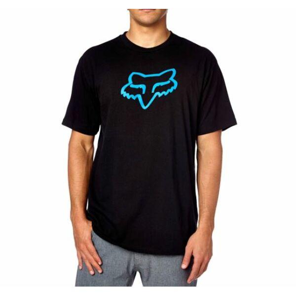 fekete fox póló nagy kék fox logóval