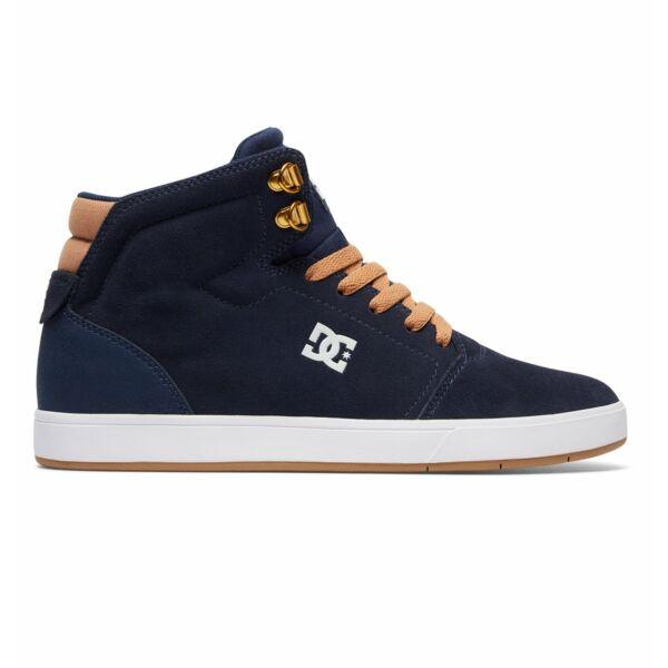 kék hasított bőr magasszárú DC cipő