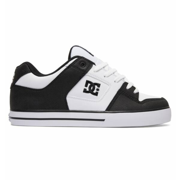 fekete fehér bőr Dc Pure gördeszkás cipő
