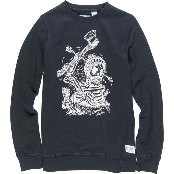 Element fekete Timber környakas pulóver fehér grafikával