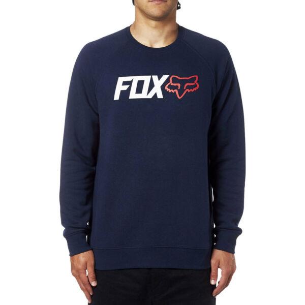 kék környakas fox pulóver