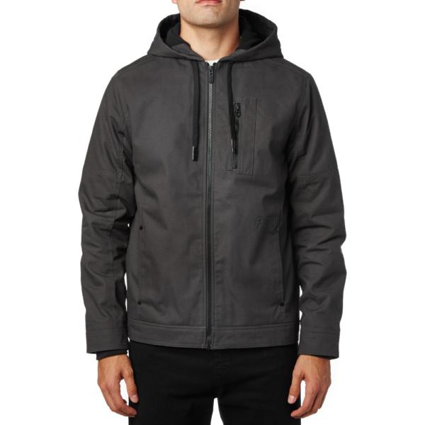 Fox fekete kapucnis vászon kabát