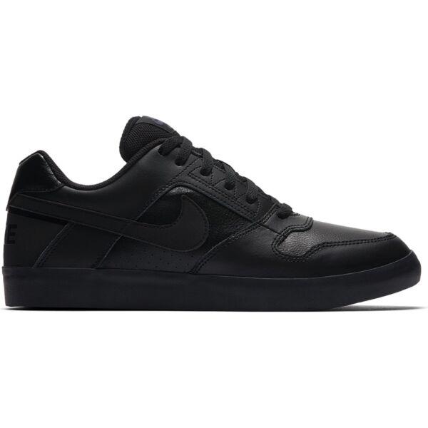 58cc1efe71 fekete Nike SB bőr gördeszkás cipő fekete talppal és fekete nike pipával