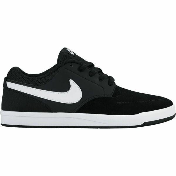 NIKE SB Fokus fekete hasított bőr cipő fehér nike pipával