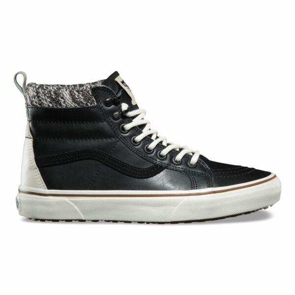 Vans fekete bőr téli női magasszárú cipő 5171b1315f