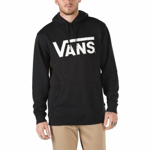 fekete Vans kapucnis belebújós pulóver fehér vans felírattal