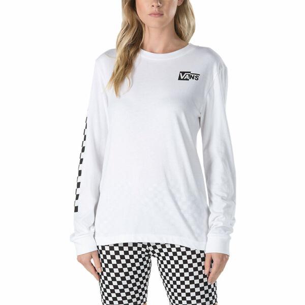 Vans fehér vékony hosszú ujjú póló kis fekete vans felírattal