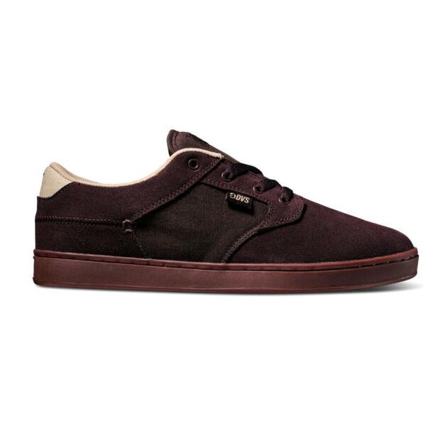 csoki barna hasított bőr DVS cipő