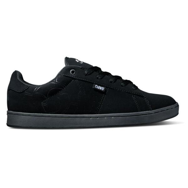 fekete bőr és nubuck Dvs gördeszkás cipő