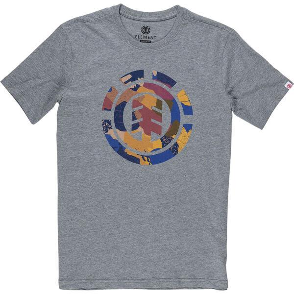 ELEMENT Cut Out Icon Grey heather póló színes nagy element logóval