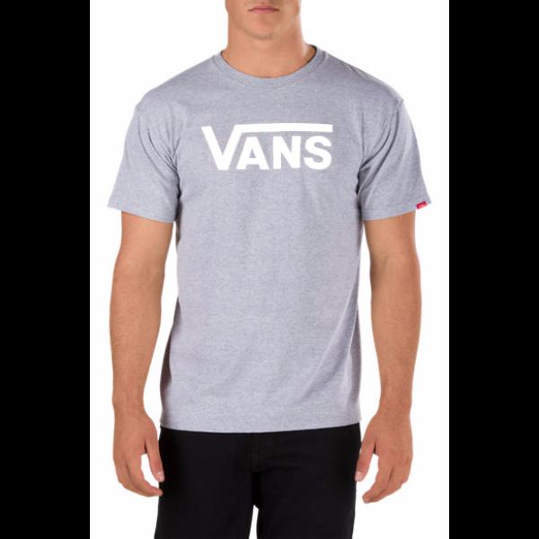 3f249822f9 világos melírszürke vans póló, fehér vans felirattal