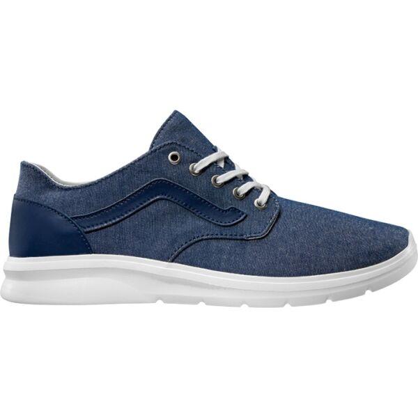 kék vászon vans ultra könnyű sportcipő, kék vans csíkkal az oldalán