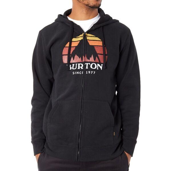 Burton fekete cipzáros pulóver színes burton mintával