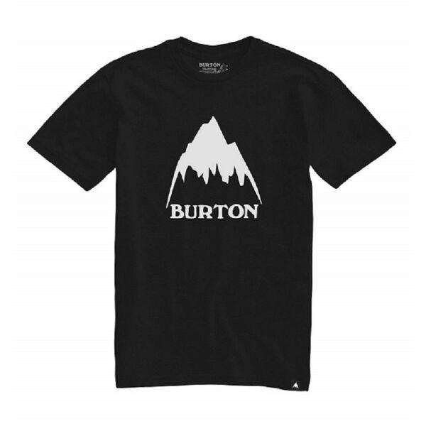 BURTON Classic Mountain High fekete póló nagy fehér burton logóval