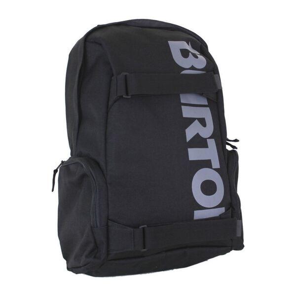 fekete Burton gördeszka tartós hátizsák, szürke burton felírattal