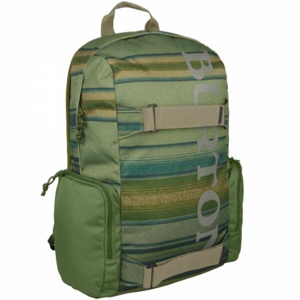 BURTON Emphasis zöld csíkos gördeszkatartós hátizsák