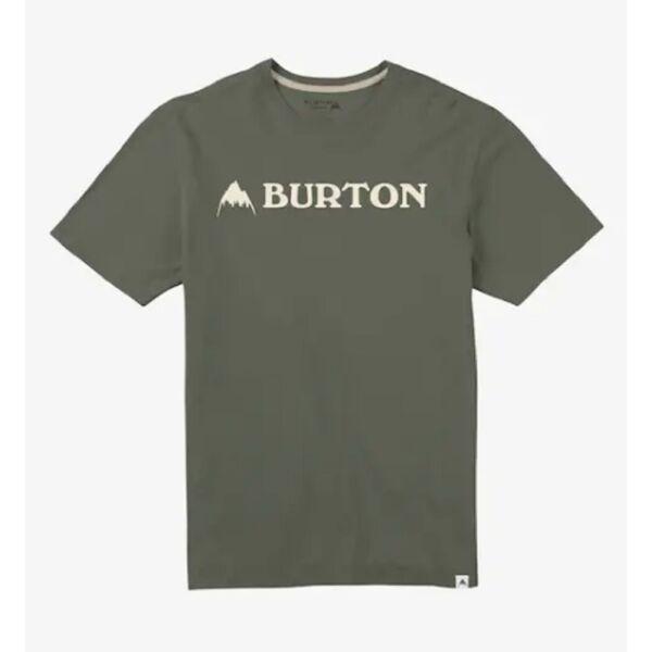 BURTON Horizontal Mountain oliv póló fehér burton felírattal