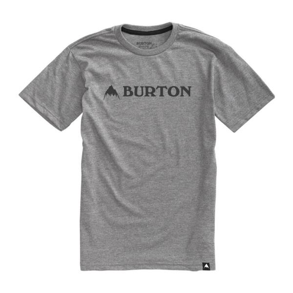 szürke Burton póló fekete burton felirattal