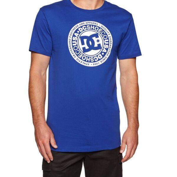 DC Circle Star royal kék póló fehér nyomott mintával