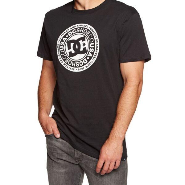 DC Circle Star fekete póló fehér dc logóval és felirattal