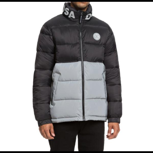 DC Gosforth Jacket  #  Black Vízálló bélelt télikabát rejtett kapucnival, 100 % nylon