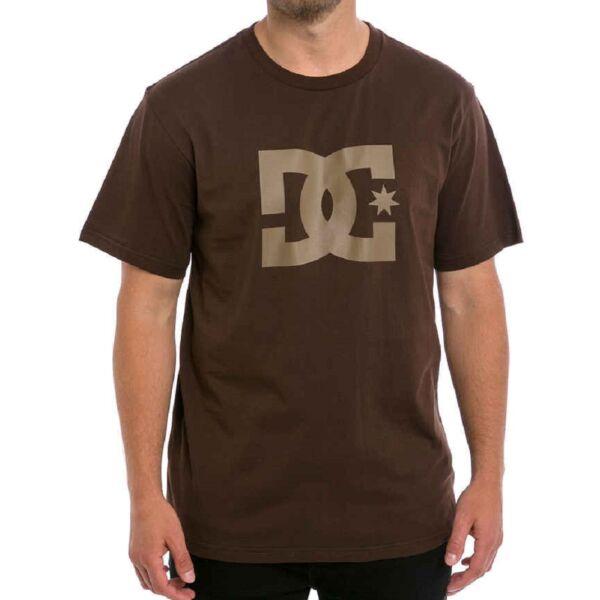 barna dc póló, nagy barna dc logóval