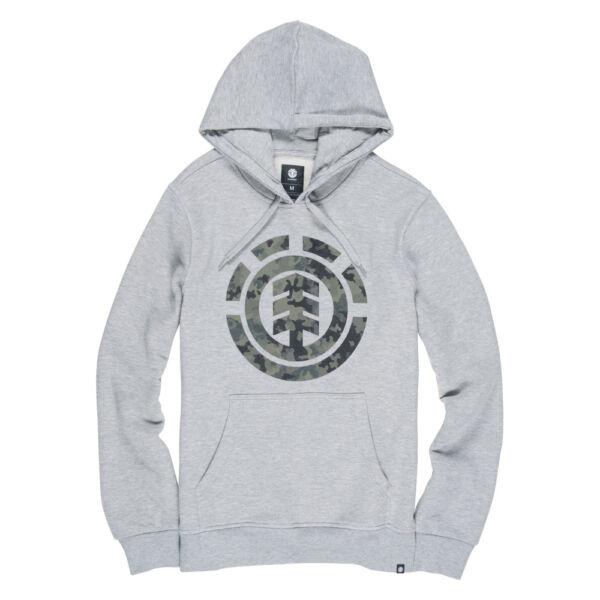 ELEMENT Barl Logo szürke kapucnis pulóver